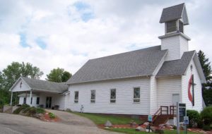 Side view of LeRoy United Methodist Church, Michigan