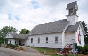 Side view of LeRoy United Methodist Church, Michigan